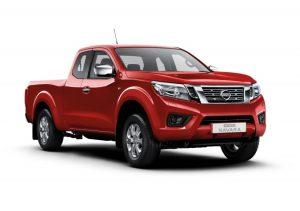 Red Nissan Navara Acenta