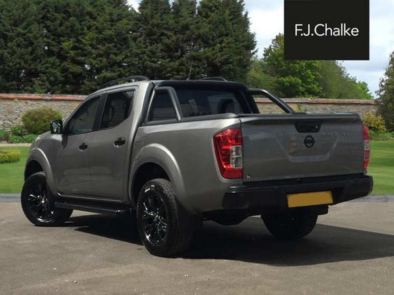 Rear view de-chromed Nissan Navara truck