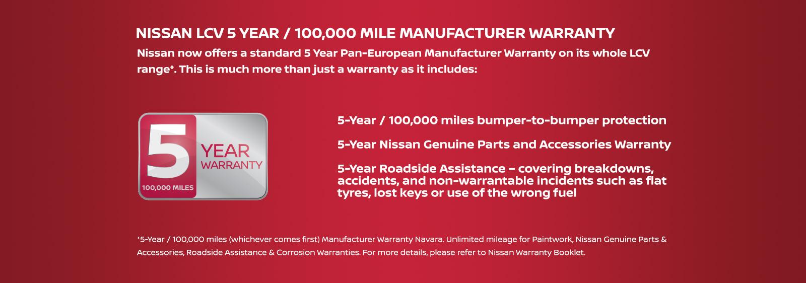 Nissan 5 Year Warranty