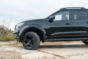 "Unique 18"" Black Alloy Wheels - Stylish and perfectly matched to sit flush with extended wheel arches. Increasing the vehicle's stance width on the road"